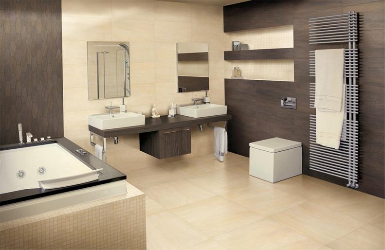 Domino fliesen ergon elegance 45x90 beige lappato for Bad braun beige