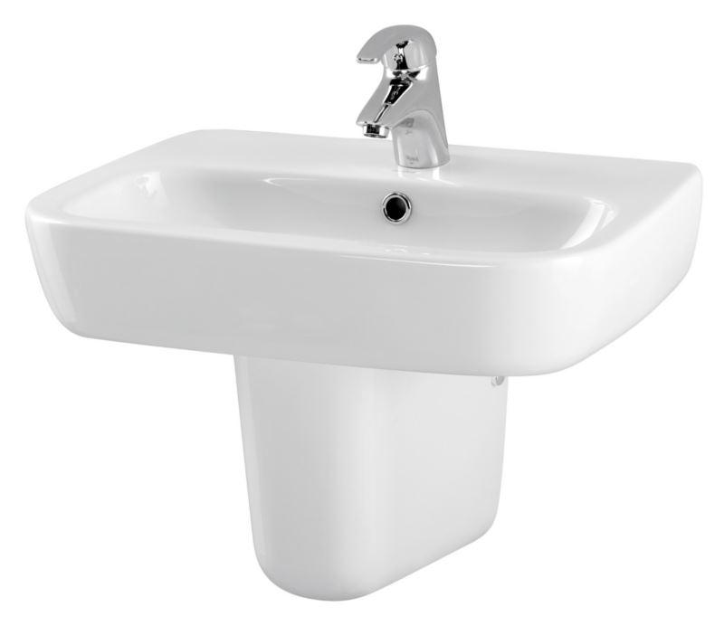 keramik waschbecken weiss 55 4 cm 650018 waschtisch handwaschbecken ebay. Black Bedroom Furniture Sets. Home Design Ideas