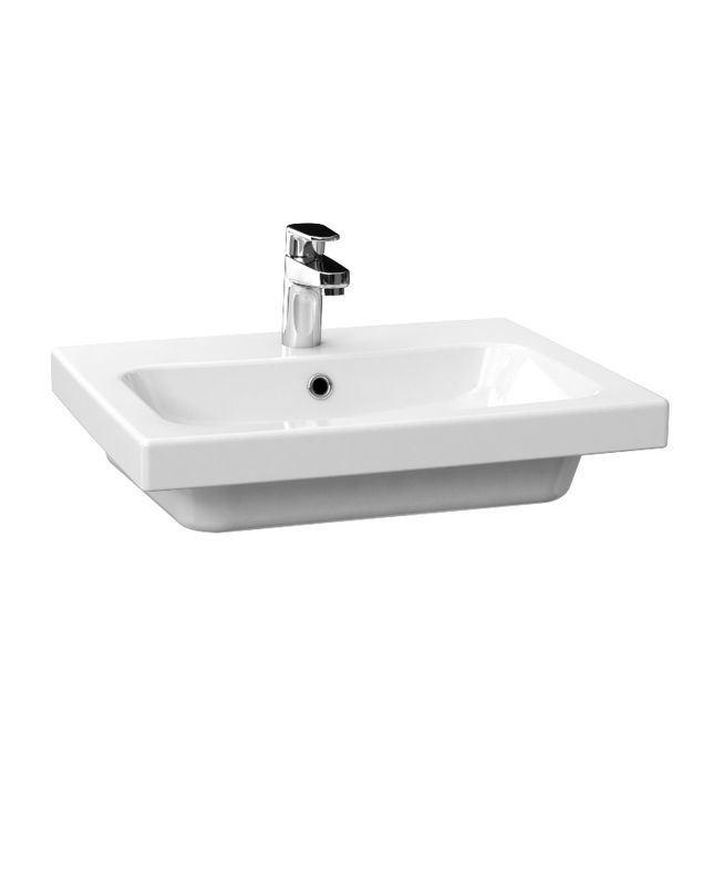 keramik waschbecken weiss 55 5 cm 675141 waschtisch handwaschbecken ebay. Black Bedroom Furniture Sets. Home Design Ideas