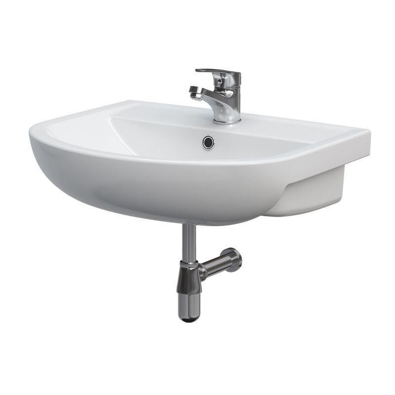 keramik waschbecken weiss 55 cm 681579 waschtisch handwaschbecken gratisversand ebay. Black Bedroom Furniture Sets. Home Design Ideas