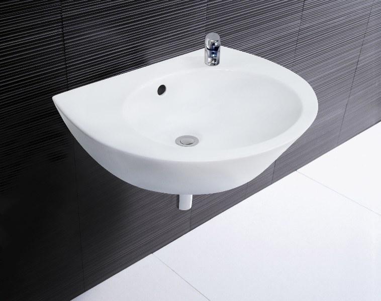 roca keramik waschbecken weiss 55 cm 008067 aufsatz waschbecken handwaschbecken ebay. Black Bedroom Furniture Sets. Home Design Ideas