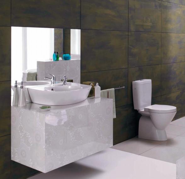 roca keramik waschbecken weiss 55 cm 008067 aufsatz. Black Bedroom Furniture Sets. Home Design Ideas